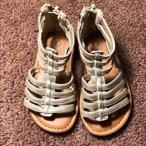 Cherokee toddler gold sandals us 7